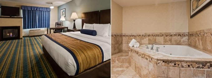 King room with a hot tub in Best Western Plus Berkshire Hills Inn & Suites