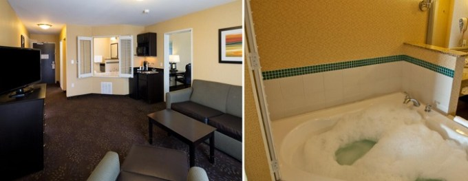 King room with hot tub in Holiday Inn Express and Suites Detroit North-Troy hotel