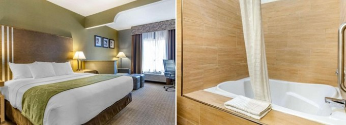 Room with Whirlpool tub in Comfort Suites - Southgate Detroit hotel