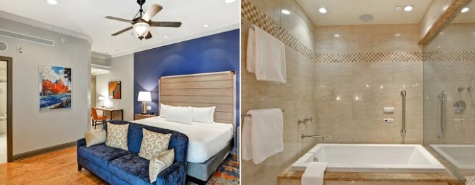 Suite with a Whirlpool in the room in Curio Collection by Hilton The Cincinnatian Hotel