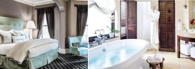 luxury suite with soaking tub in Clarendon Square hotel, Boston, Ma