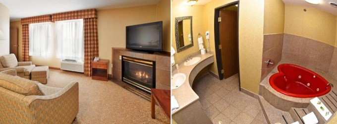 Hot tub suite in Holiday Inn Express Hotel & Suites Fenton - St. Louis, Missouri