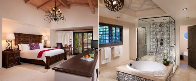 King Suite With Spa and a hot tub in Rancho Valencia Resort and Spa, San Diego