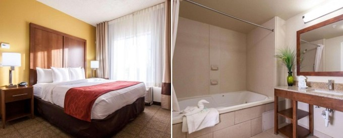 King Suite with a private whirlpool tub in Comfort Suites Central - 44, Tulsa, OK