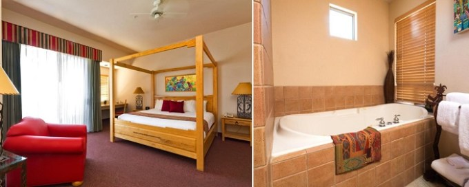 Luxury suite with a hot tub in the room in Inn at Eagle Mountain, Scottsdale, Arizona