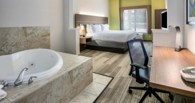 Hot tub suite in Holiday Inn Express Hotel & Suites Dallas - Grand Prairie I-20, TX