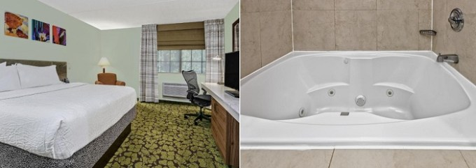 Room with a hot tub in Hilton Garden Inn San Antonio Airport Hotel, Texas