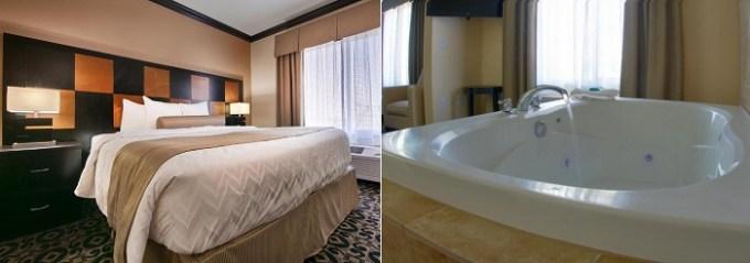 Hot Tub suite in Best Western Plus Airport Inn & Suites, Salt Lake City, Utah