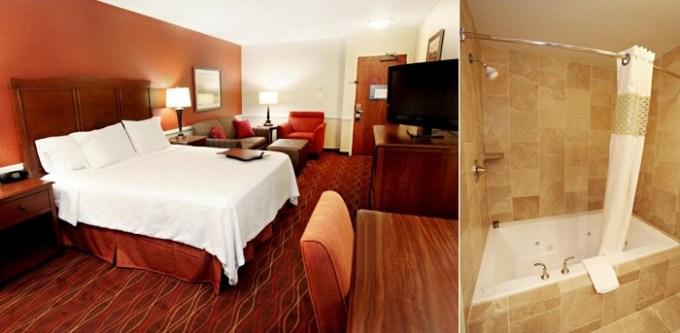 Room with a hot tub in Hampton Inn Salt Lake City-North, Utah