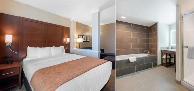 Suite with Whirlpool in Comfort Suites Denver International Airport Hotel, Colorado