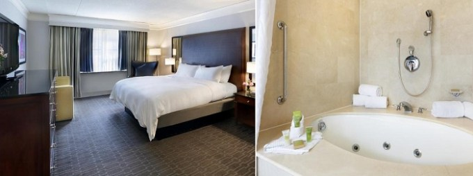 Hot Tub suite in Hilton Mystic Hotel, Connecticut