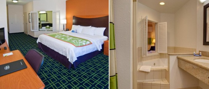 Room with a whirlpool tub in Fairfield Inn and Suites by Marriott Indianapolis- Noblesville, Indiana