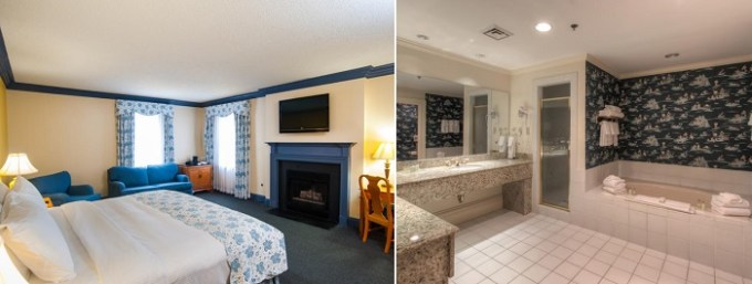 Suite with a jetted tub in The Founders Inn & Spa Tapestry Collection By Hilton, Virginia Beach, VA
