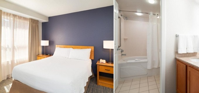 Whirlpool suite in Residence Inn Southington, CT