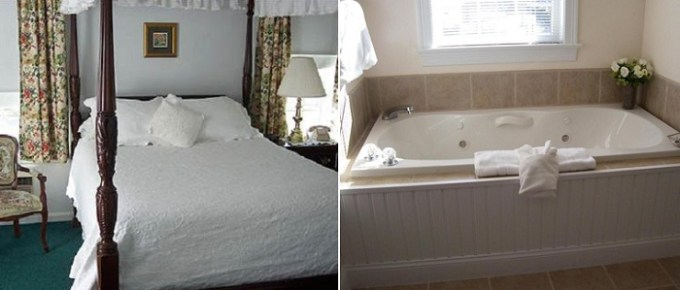 Whirlpool suite in Taber Inn Mystic, Connecticut