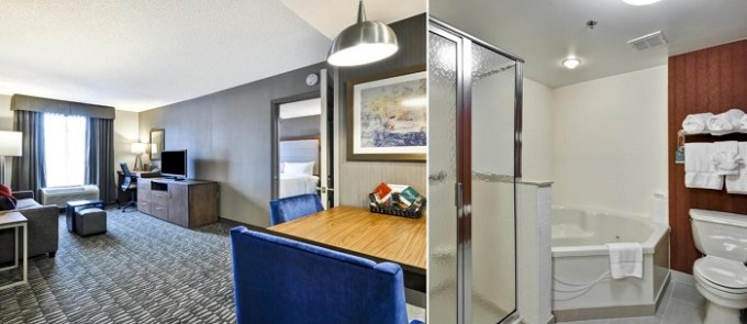 suite with a Whirlpool in Homewood Suites by Hilton Hartford South-Glastonbury Hotel, Connecticut