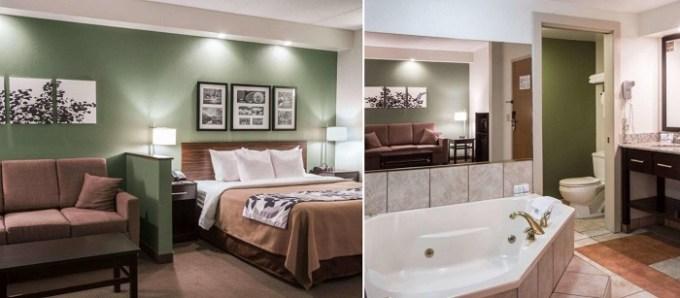 Hot Tub suite in Sleep Inn & Suites Buffalo Airport Cheektowaga Hotel, NY