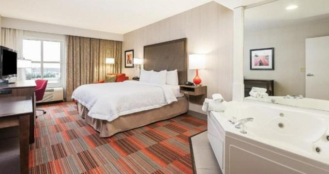 Hot Tub suite in Hampton Inn Charlotte Uptown Hotel, NC