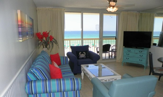 Room with beach views in the beachfront Resorts of Pelican Beach, Destin, FL