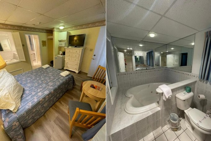 Room with a hot tub in Beau Rivage Motel, Old Orchard Beach, Maine