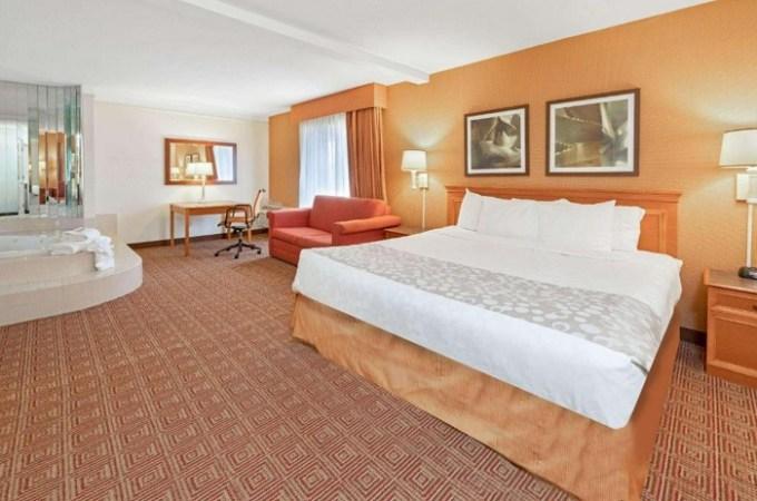 Suite with a whirlpool tub in the bedroom in La Quinta by Wyndham Salt Lake City - Layton, Utah