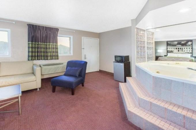 Room with a Whirlpool in Super 8 by Wyndham Millbury-Toledo, Ohio
