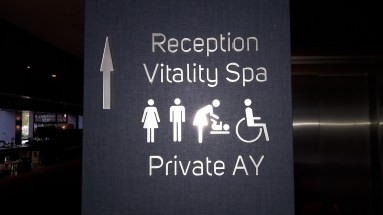 facilities sign