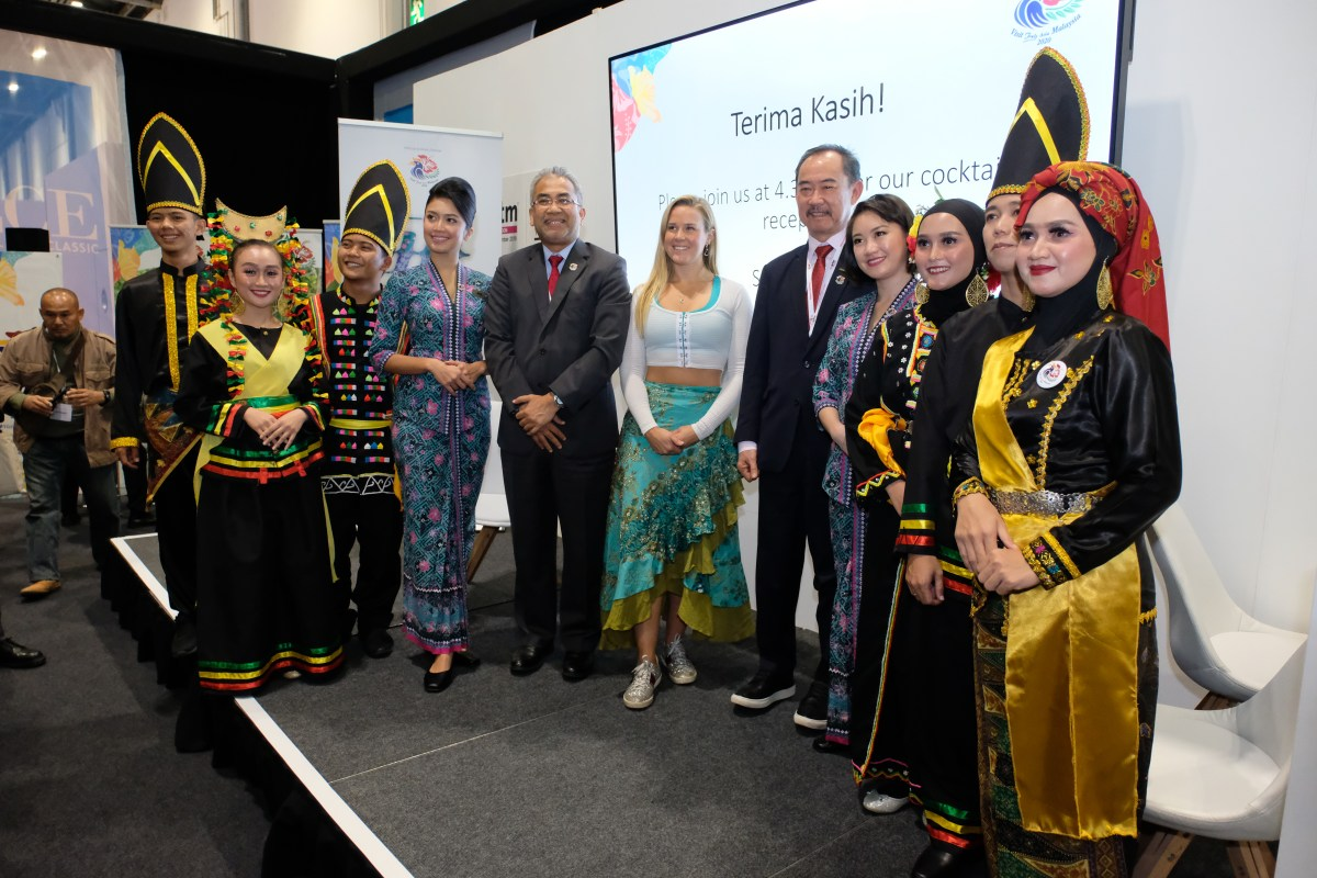 The Malaysian delegation to WTM Press Conference