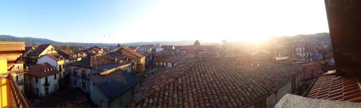 Veduta panoramica dal tetto