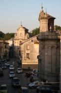 Chiesa dell'Addolorata, sullo sfondo Chiesa Matrice