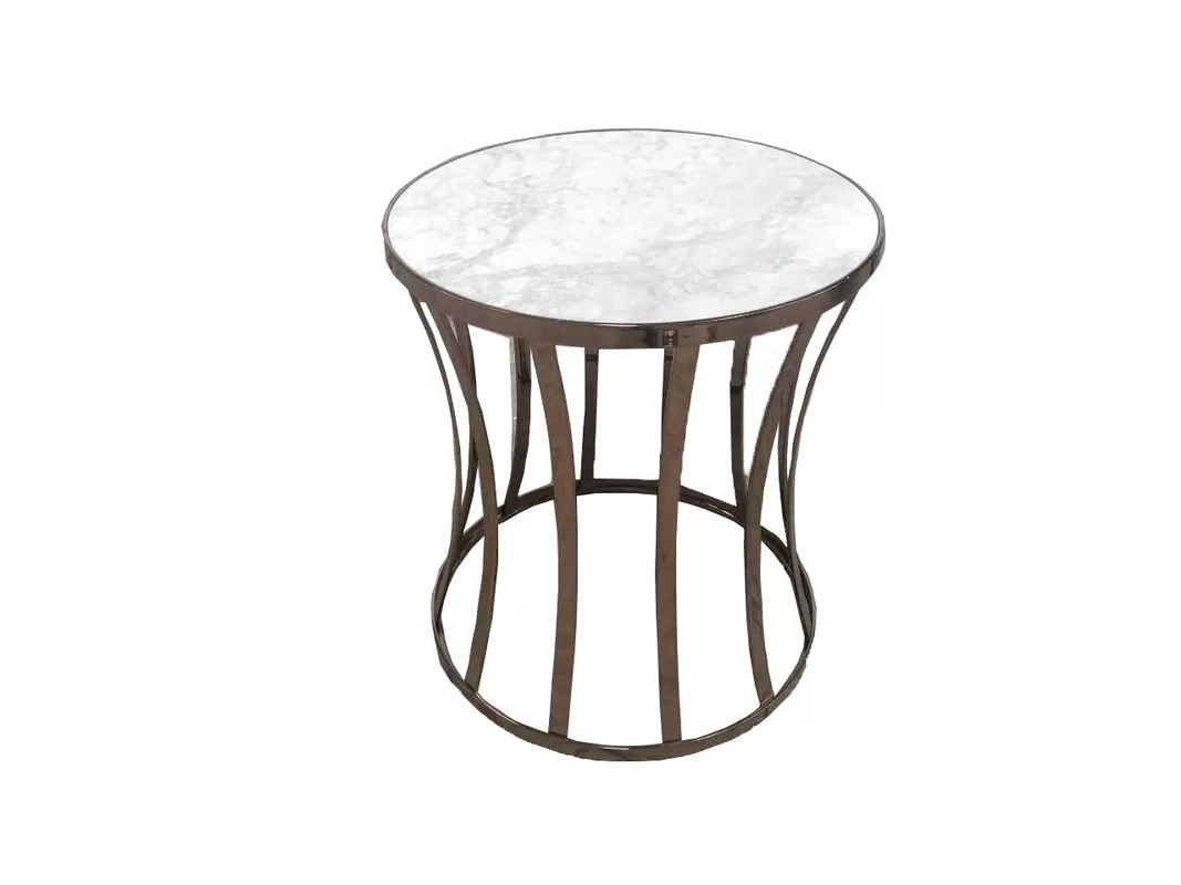 Gold Metal Base Living Room Side Tables For Hotel