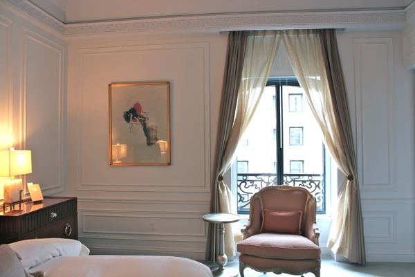floral upholstered chair mainstays outdoor rocking white hotel chic | french glamour in nyc: the dior suite at st. regis