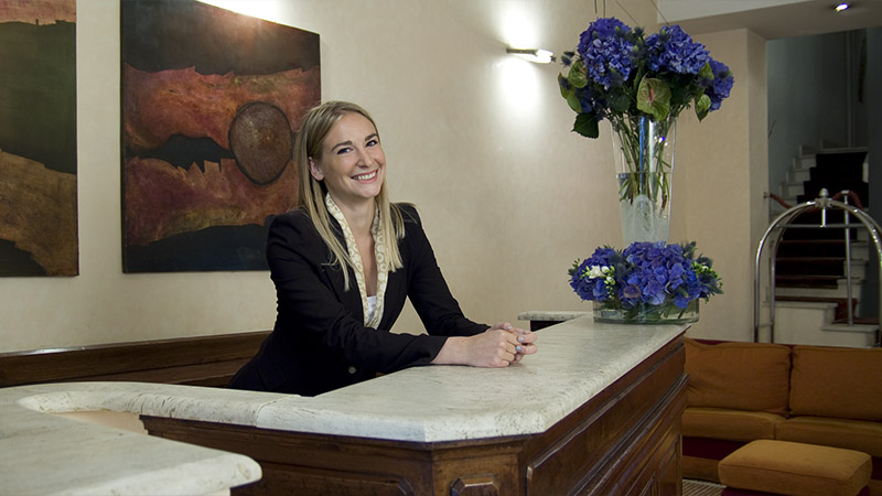 Reception Hotel Columbia Roma 3 stelle
