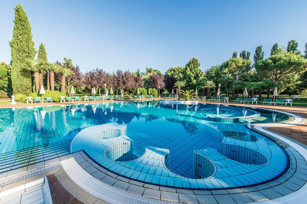 PISCINA  PARCO  Hotel Des Bains Montegrotto