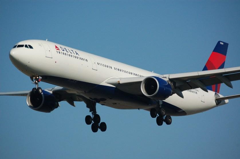 Imagem de uma avião da delta