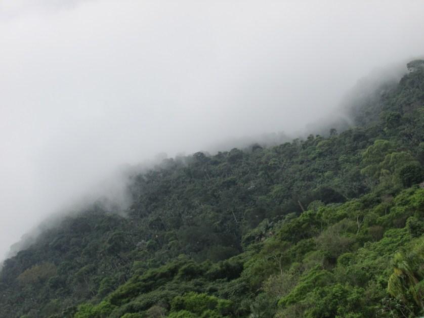 Imagem de montanha com neblina
