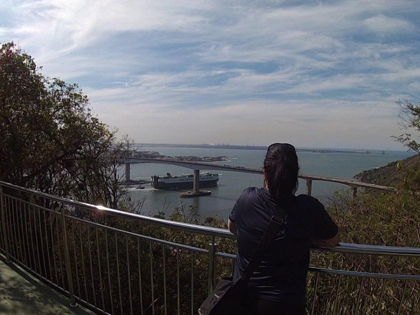 imagem-de-navio-passando-debaixo-da-terceira-ponte