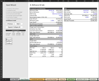Refinance & Sale Input
