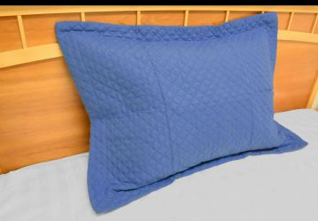 radiance diamond king pillow shams persian blue