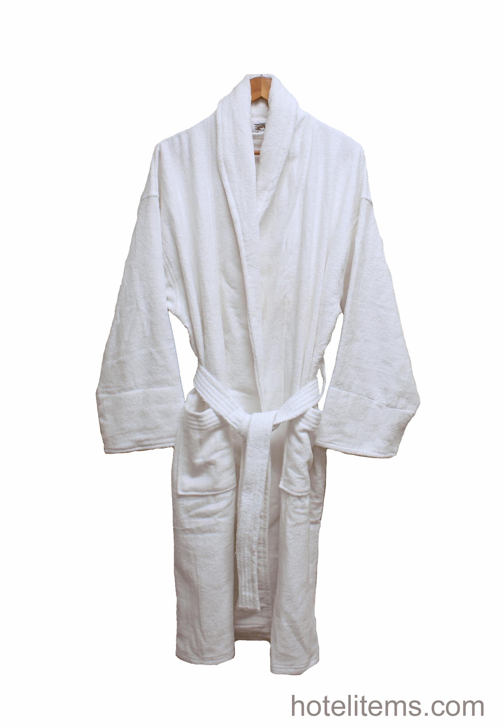 terry cloth hotel bath robe