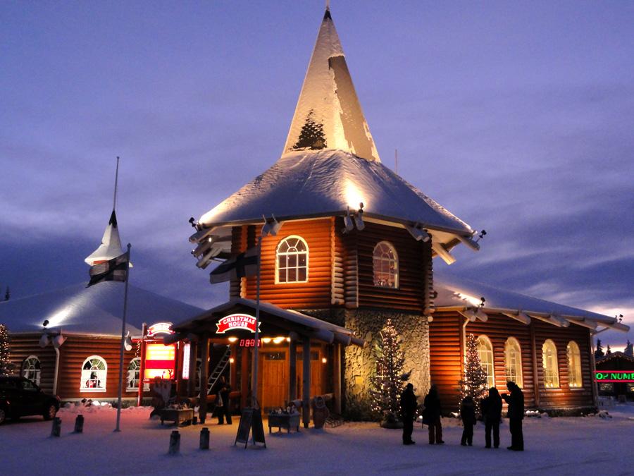 Christmas House in Santa Claus Village  Hotel Aakenus Rovaniemi in Lapland Finland