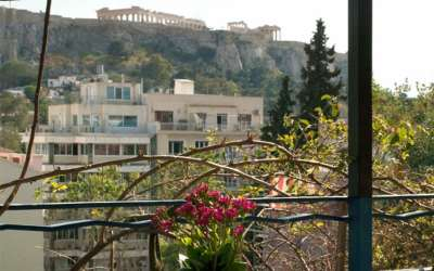 panorama triple room balcony acropolis view