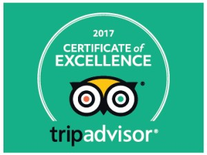 2017 Certificate of Excellence TripAdvisor