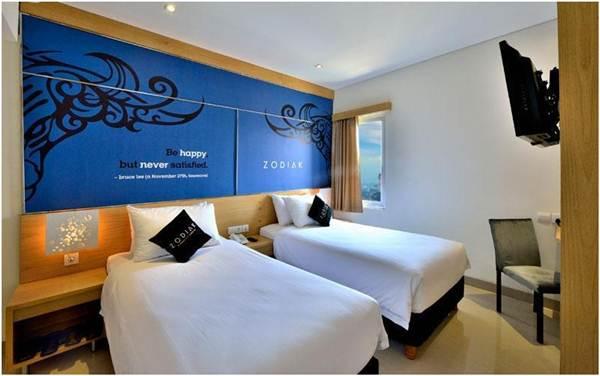Kamar tipe superior twin di hotel Zodiak @Kebonjati Bandung