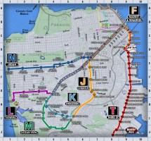 San Francisco Muni Metro Map
