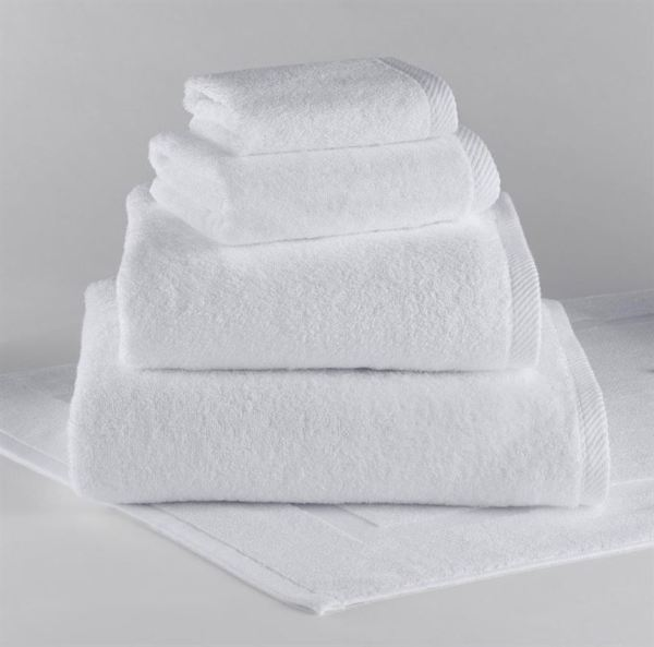 Traditional Collection Towels by TY Group & Harbor-Linen - White