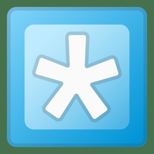 Asterisk Emoji Meaning Symbol