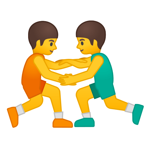 wrestling emoji meaning with