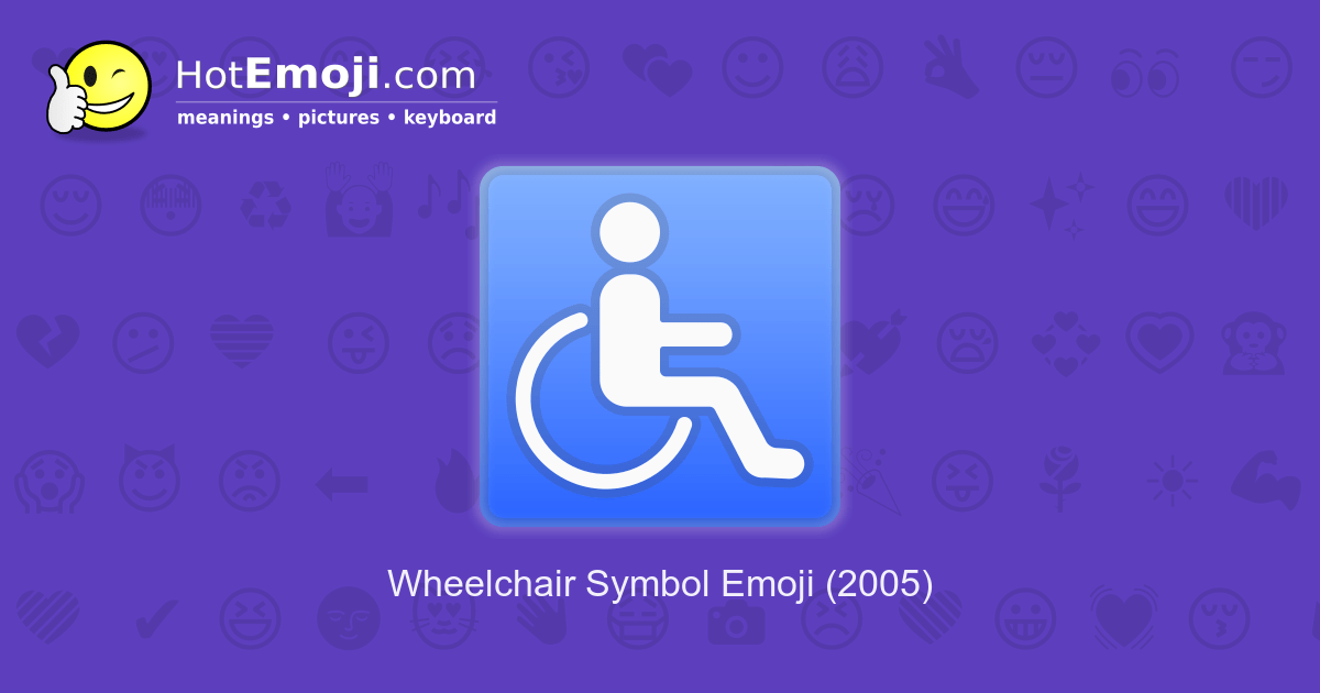 wheelchair emoji amazon adirondack chair symbol meaning with pictures from a to z