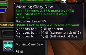vendor price
